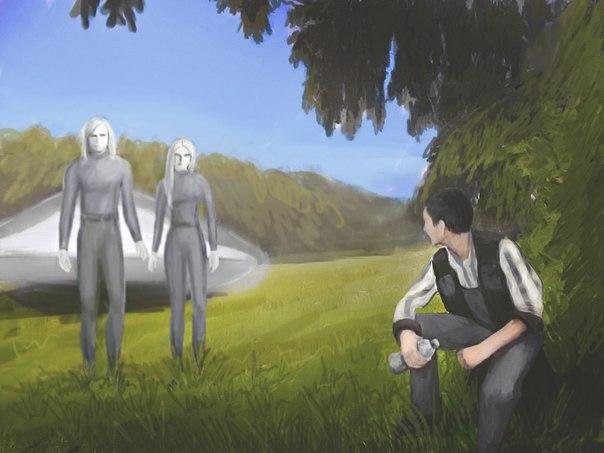 Risultati immagini per Charles Hall Alien encounters